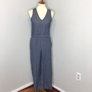 Drew for Anthropologie Striped Tank Jumpsuit Small